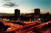 国际贸易中心,名城楼宇,首都风光,清晨 天际 泛亮