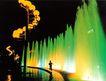 复兴门花坛,名城楼宇,首都风光,灯光 音乐 喷泉
