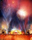 古城城门0177,古城城门,首都风光,古城城门 聚光灯 闪烁的烟花