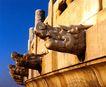 圜丘坛-03,历史古迹,首都风光,龙头 伸出 石壁