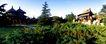 扇面亭-02,历史古迹,首都风光,绿色 青色 植物