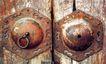 北京胡同0064,北京胡同,首都风光,木门 铜环 敲门
