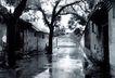 北京胡同0077,北京胡同,首都风光,巷道 雨天 湿润