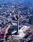 中央广播电视发射塔,鸟瞰北京,首都风光,电视塔 广播 尖耸