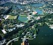 北京游乐园,鸟瞰北京,首都风光,游乐场 飞轮 湖心