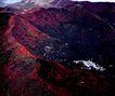 香山,鸟瞰北京,首都风光,俯拍北京 红色山脉 建筑群