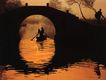 水乡的早晨,浙江省,全国各省美景,拱桥 木船 划过