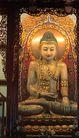 玉佛寺的玉佛,上海市,全国各省美景,佛像 镀金 坐姿