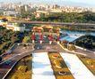 台北市,台湾省,全国各省美景,花园 布景 俯视
