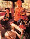 文化村中的土著部落人雕刻的木刻,台湾省,全国各省美景,老头 制做 雕像