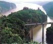 南津关,湖北省,全国各省美景,高架桥 铁路 水涧