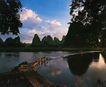 夕阳下的阳溯溪旁,广西壮族自治区,全国各省美景,晚间 桂林 山水