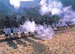 花炮节,广西壮族自治区,全国各省美景,站列 成排 烟幕