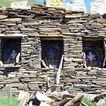 拉萨美貌0177,拉萨美貌,全国各省美景,奇幻的拉萨 石片堆叠 小寺庙