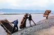 羊皮筏子,宁夏回族自治区,全国各省美景,拉起 竹筏 石滩