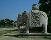 清东陵清西陵0054,清东陵清西陵,古代名胜,陵园静物 大象雕塑 背一个坛子