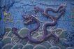 故宫内宫0068,故宫内宫,古代名胜,龙纹 墙体 图纹