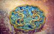 故宫内宫0099,故宫内宫,古代名胜,墙壁 浮雕 双龙