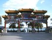 颐和园北海0061,颐和园北海,古代名胜,牌楼 蓝天 街道