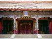 颐和园北海0063,颐和园北海,古代名胜,宫门 红柱 屋瓦