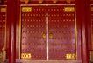颐和园北海0064,颐和园北海,古代名胜,大门 红漆 富贵