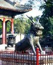 铜麒麟,颐和园美景,古代名胜,麒麟 铜器 景点