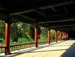 长廊1,颐和园美景,古代名胜,长廊 红柱 绿色