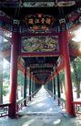 长廊4,颐和园美景,古代名胜,柱子 红漆 景色