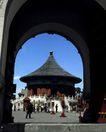 天坛礼堂长廊0080,天坛礼堂长廊,古代名胜,拱门 窥视 内景