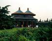 天坛礼堂长廊0090,天坛礼堂长廊,古代名胜,幽静 建筑 草地