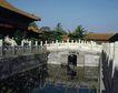 天坛礼堂长廊0093,天坛礼堂长廊,古代名胜,河流 枯荷 护栏