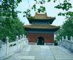 文物景点0077,文物景点,古代名胜,石桥 垂枝 楼阁