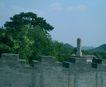 文物景点0099,文物景点,古代名胜,墙头 天空 绿树