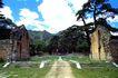 庆陵陵门,宝陵碑亭,古代名胜,松树 屋舍 损坏