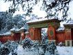 德陵雪景,宝陵碑亭,古代名胜,