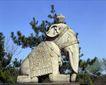 避暑山庄0066,避暑山庄,古代名胜,石像 象鼻 绿枝