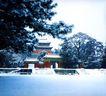 景陵明楼,明陵幽景,古代名胜,冬天 下雪 公园
