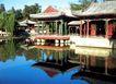 谐趣园内,明陵幽景,古代名胜,楼台 公园 湖水