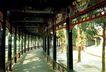长廊,明陵幽景,古代名胜,长廊 彩绘 树木