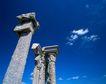 故宫内景0061,故宫内景,古代风景,石柱 蓝天 白云