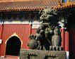 故宫内景0072,故宫内景,古代风景,庙宇 寺院 铜狮