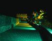故宫内景0099,故宫内景,古代风景,墙头 夜景 灯光
