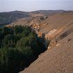 地方名胜0067,地方名胜,古代风景,黄沙 沙丘 绿洲