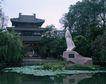 地方名胜0075,地方名胜,古代风景,屈原 塑像 背手