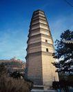 地方名胜0089,地方名胜,古代风景,宝库 宝塔 竖立