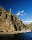 地方名胜0099,地方名胜,古代风景,海边 山崖 石头