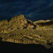 古代艺术0029,古代艺术,古代风景,乌云 残骸 城墙遗址