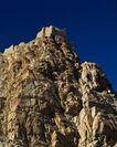 古代艺术0034,古代艺术,古代风景,石山 山顶 残壁