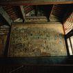古代艺术0066,古代艺术,古代风景,屋顶 木屋 木窗