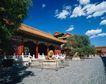 旅游景点0021,旅游景点,古代风景,蓝天 白云 屋舍